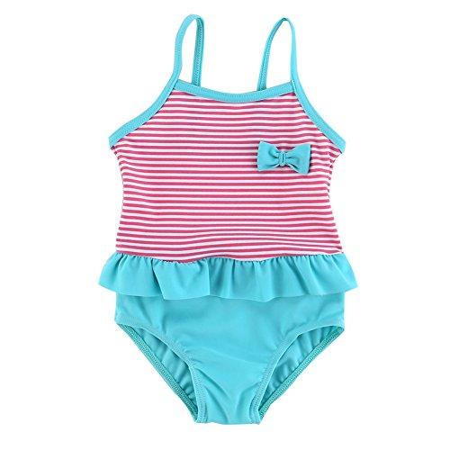 Vivafun Baby Girls One-Piece Swimwear Ruffle Swimming (Baby Swimming Costume)