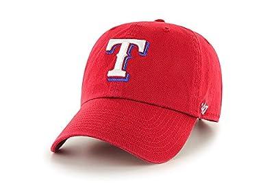 '47 Brand Clean Up Texas Rangers Red Adjustable Cap