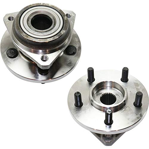 (Wheel Hub and Bearing For 89-99 Jeep Cherokee 93-98 Grand Cherokee Front Left and Right 2Pc)