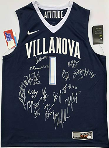 2017-18 Villanova Wildcats Team Autographed Signed Memorabilia Nike Basketball Jersey - JSA Authentic