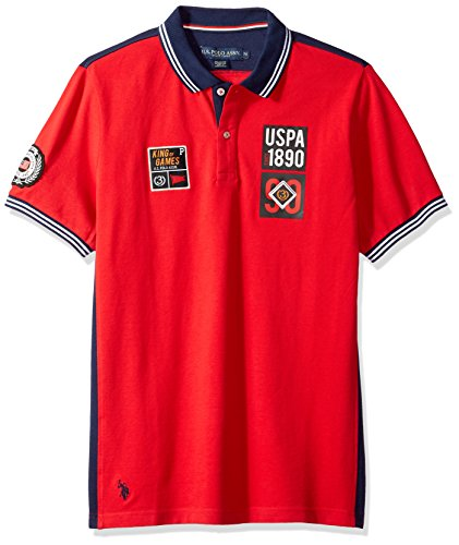 U.S. Polo Assn. Men's Short Sleeve Classic Fit Fancy Pique Polo Shirt
