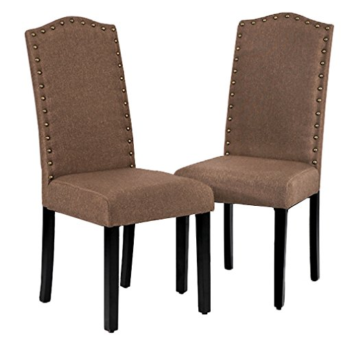 BestMassage Dining Room Chairs Armless Kitchen Wood Chair Accent Solid Modern Style for Living Home Furniture (Set of 2) (Room Style Living Furniture)