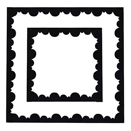 Black Trim Scalloped (15 Pieces Black Bulletin Board Borders Scalloped Border Trim Felt Fabric Decorative Borders for Bulletin Boards, 49 Feet Total Length)