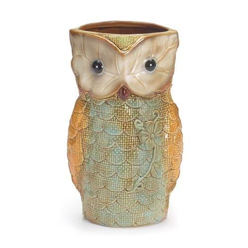 Owl Shaped Vases, Handpainted, Ceramic, 9