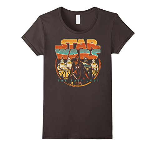 Womens Star Wars Last Jedi Vintage Retro Kylo Ren Graphic T-Shirt Small Asphalt