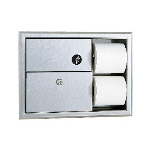 Bobrick - B-3094 - ClassicSeries Napkin Disposal and Toilet Paper Dispenser