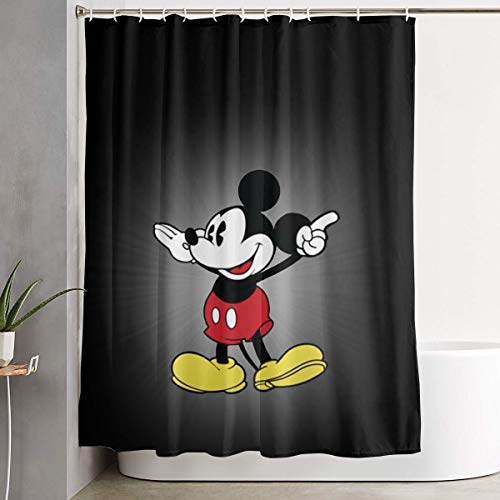 Meirdre Stylish Shower Curtain Mickey Mouse Printing Waterproof Bathroom Curtain 60 X 72 - Mickey Curtain Shower