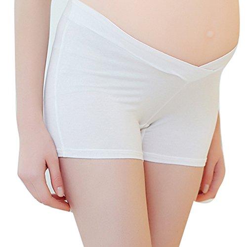 MEIHAOWEI Pantalones de seguridad para mujeres embarazadas Summerw Mujeres embarazadas Mujeres Íntimas Intima Ropa interior Blanco