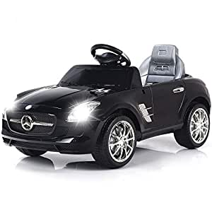 Costzon Mercedes Benz SLS Kids Ride On Car RC Battery Toy Vehicle w/MP3 (Black)