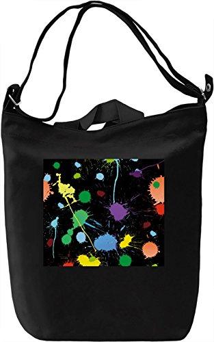 Paint Pattern Borsa Giornaliera Canvas Canvas Day Bag| 100% Premium Cotton Canvas| DTG Printing|