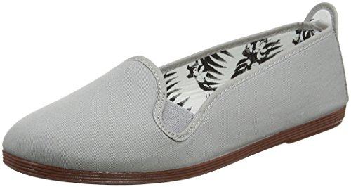 000 Grey para Mujer Flossy Punta Gris Mijas con Cerrada Bailarinas 8XzAqaw