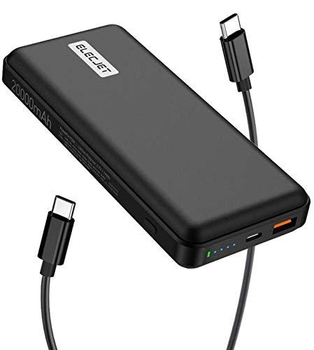 ELECJET PowerPie | Powerbank USB C 45W PD PPS | 2000mAh | QC 3.0 | Externe batterij draagbare oplader voor laptops…
