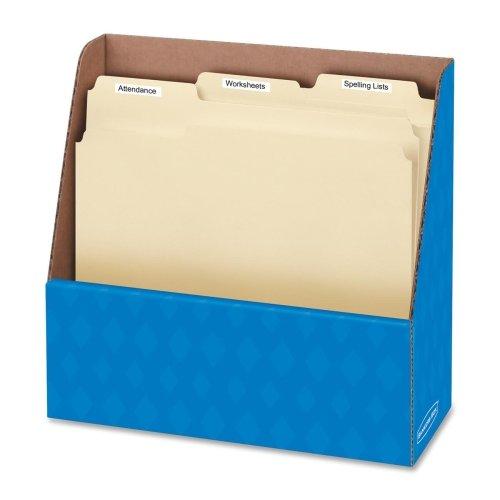 Wholesale CASE of 25 - Fellowes 1-Compartment Angled Folder Holders-Folder Holder, Letter, 11-3/4''x4-1/2''x11'', Blue