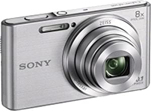 """Sony DSCW830 20.1MP Digital Camera with 2.7"""" LCD (Silver) (Certified Refurbished)"""