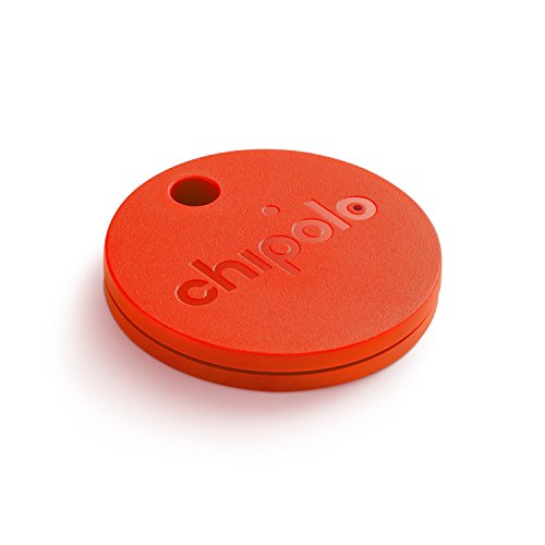 Chipolo Classic Bluetooth Key Finder and Phone Finder - with Replaceable Battery - Red