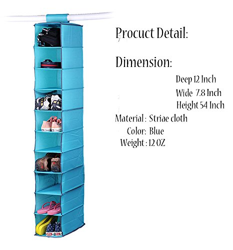 New York Baby Gown (Vipo Closet Hanging Shelf 10-Shelf Collapsible Hanging Accessory Organizer, Breathable Material, for Clothes Storage and Accessories&Handbag Organizer,Shoe,Toys - Keep Your Wardrobe in order (blue))