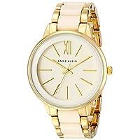 Anne Klein - Reloj de pulsera de resina en marfil y tono dorado AK /1412IVGB para mujer