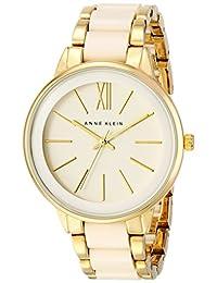 Anne Klein AK/1412IVGB Reloj para Mujer, Redondo, Análogo, color Blanco