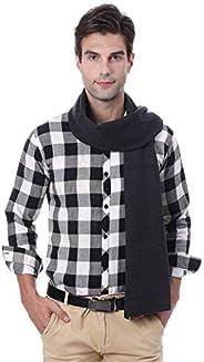 Mens Winter Scarf Soft Plaid Cashmere Scarves Warm Fashion Business Scarf