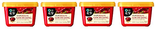 Chung Jung One Sunchang Hot Pepper OFWTIG Paste Gold (Gochujang) 4Pack (500g) (Pepper Hot 500)