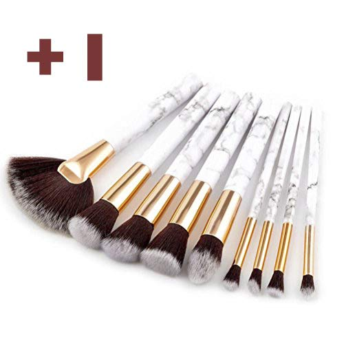 LCLrute Neue 9pcs Kosmetik Make-up Pinsel Rouge Lidschatten Pinsel Set Kit (Weiß)