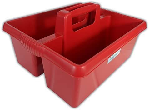 Wham Colourful Plastic Handy Kitchen Cleaning Tool Utility Caddy Storage Tidy (Chilli Red)