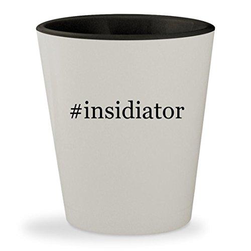 #insidiator - Hashtag White Outer & Black Inner Ceramic 1.5oz Shot (Demon Insidious Costume)