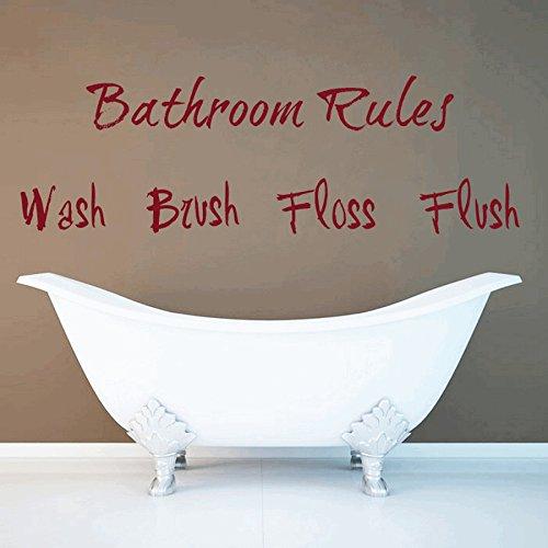 dreamkraft WashブラシFloss Flush壁装飾アートステッカービニールデカールホームデコレーションリビングルーム&キッズ寝室(21 x 7インチ)用 B07C7S9VP7