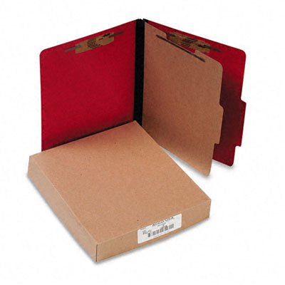 (Acco - Presstex Classification Folders Letter Four-Section Executive Red 10/Box