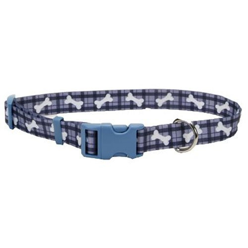 Coastal Pet 06402 A PBO18 Adjustable Collar, 5/8-Inch, Plaid Bone