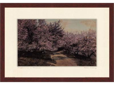 Poster Palooza Framed Disappearing Blossom- 24x18 Inches - Art Print (Walnut Brown Frame)