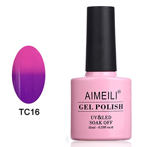 AIMEILI Soak Off UV LED Temperature Color Changing Chameleon Gel Nail Polish - Cosmos (TC16) 10ml -