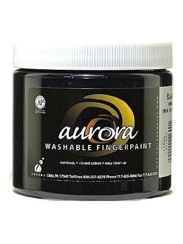 Chroma Inc. Aurora Washable Finger Paint black [PACK OF 4 ]