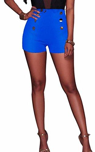 Lace Up Sailor Pants - FBIIIOU Womens Summer Sexy Hot Pants High Waisted Sailor Shorts,USSmall,2
