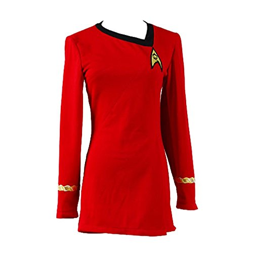 Original Star Trek Womens Uniform (Ya-cos Cosplay Female Captain Officer Duty Dress Cosplay Costume)