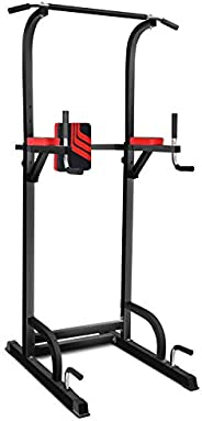 Power Tower Multi-Function Workout Dip Station for Home Gym Training Fitness Exercise Equipment Adjustable Hei
