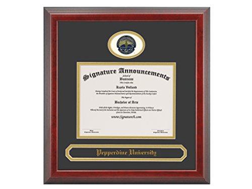Signature Announcements Pepperdine-University Undergraduate, Professional/Doctor Sculpted Foil Seal & Name Graduation Diploma Frame, 16