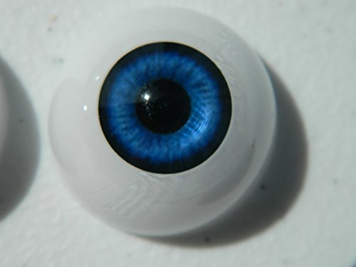 26mm Pair of Realistic Life Size Acrylic Half Round Hollow Back Eyes for Halloween PROPS, MASKS, DOLLS or Bears FB02]()