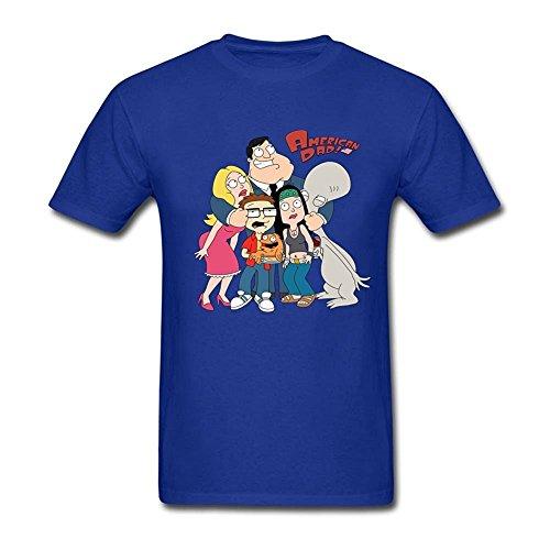 American hombre cuello Dad Tee peque Cartoon Center O o Camiseta para Adamimyclay aEq0fHnwzf