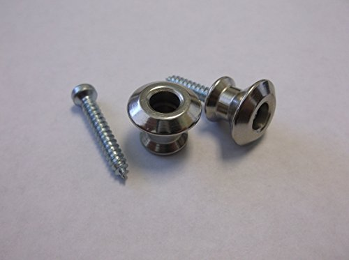 Dunlop Buttons Only (2) For Dual Design Strap Lock System - NICKEL Dunlop Straplocks