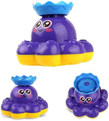 [スポンサー プロダクト]Coolplay お風呂 おもちゃ バストイ 水遊び 海洋動物 噴水たこ 子供用 噴水すると回転始め(ブルー)