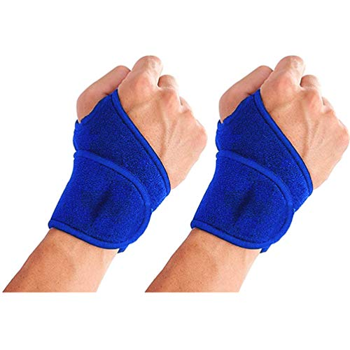 Luxxii 2 Pack - Wrist Support Strap Adjustable Wrist Strap/Wrist Brace/Hand Support Compression Pad for Men and Women