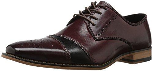 Shoes Oxfords Burgundy (Stacy Adams Men's Talbot Cap Toe Oxford, Burgundy/Black, 10 M US)