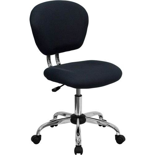 Parkside Mid-Back Gray Mesh Swivel Task Chair with Chrome Base