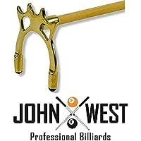 John West stecca da biliardo con ponte in ottone alto
