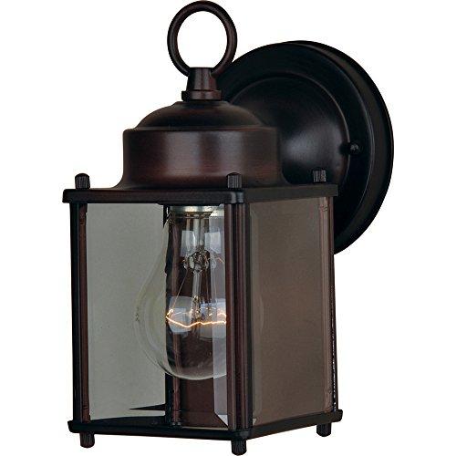 - Maxim Lighting 6879CLOI One Light Glass Wall Lantern, Oil Rubbed Bronze