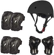 Kids Helmet Knee Elbow Wrist Pads for Toddler Ages 2-8 Years Boys Girls,Skateboard Bike Roller Skating Cycling