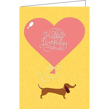 Gluckwunschkarte Zum Geburtstag Dackel Happy Birthday Amazon De