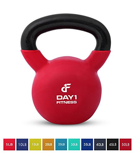 Day 1 Fitness Kettlebell Weights Vinyl Coated Iron 50 Pounds - Coated for Floor and Equipment Protection, Noise Reduction - Free Weights for Ballistic, Core, Weight Training by Day 1 Fitness (Image #11)