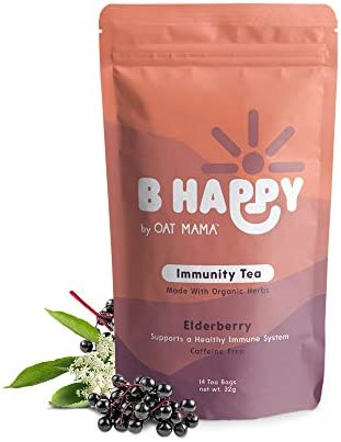 Immunity Tea, Immune Boosting Tea, Elderberry for Immune System Support, Cold and Flu Tea for Immunity Support, Wellness Tea for Moms, 14 Biodegradable Tea Sachets – Oat Mama